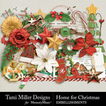 Home for Christmas Embellishments-$3.99 (Tami Miller)
