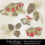 Warmest Wishes Stamps Pack-$1.49 (Indigo Designs)