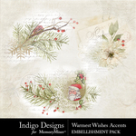 Warmest Wishes Accents Pack-$1.25 (Indigo Designs)