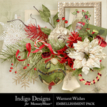 Warmest Wishes Embellishment Pack-$4.99 (Indigo Designs)