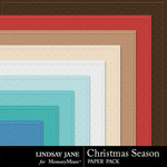 Christmas Season Embossed Paper Pack-$1.99 (Lindsay Jane)