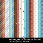 Christmas Season Glitter Paper Pack-$1.99 (Lindsay Jane)