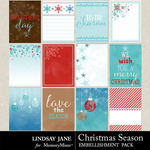 Christmas Season Journal Cards Pack-$1.99 (Lindsay Jane)