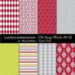 Oh Snap Week 49-52 Paper Pack-$1.99 (Lasting Impressions)