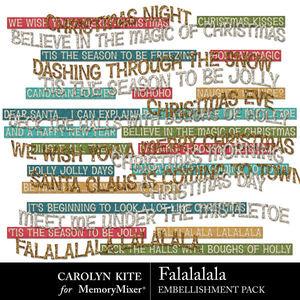 Crk falalalala embellishmentswordart medium