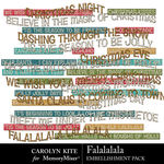 Falalalala WordArt Pack-$2.99 (Carolyn Kite)