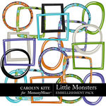Little Monsters CK Frames Pack-$2.99 (Carolyn Kite)