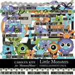 Little Monsters CK Embellishment Pack-$4.99 (Carolyn Kite)