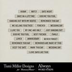Always TM Word Strips Pack-$1.80 (Tami Miller)
