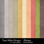 Always TM Solid Papers Pack-$3.99 (Tami Miller)