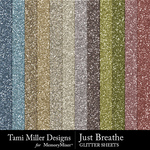 Just breath glitter sheets small