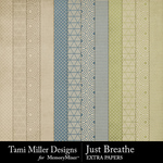 Just Breathe Extra Paper Pack-$3.99 (Tami Miller)