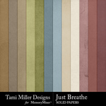 Just Breathe Solid Paper Pack-$3.99 (Tami Miller)