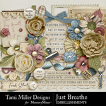 Just Breathe Embellishment Pack-$3.99 (Tami Miller)