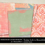 Today Life is Beautiful Curled Papers-$4.99 (Laura Burger)