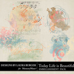 Today Life is Beautiful Scatters Pack-$4.99 (Laura Burger)