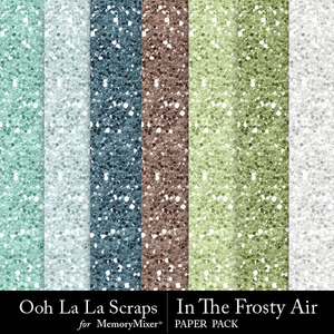 Frosty air glitter papers medium
