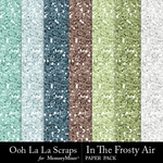 In The Frosty Air Glitter Paper Pack-$1.99 (Ooh La La Scraps)