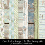 In The Frosty Air Worn Wood Paper Pack-$1.99 (Ooh La La Scraps)