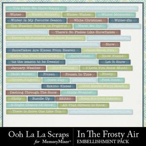 Frosty air word labels medium