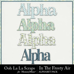 In The Frosty Air Alphabet Pack-$3.49 (Ooh La La Scraps)