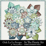 In The Frosty Air Layered Flowers Pack-$1.99 (Ooh La La Scraps)