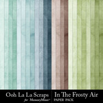In The Frosty Air Tea Dyed Paper Pack-$1.99 (Ooh La La Scraps)