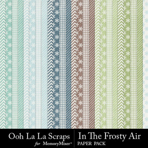Frosty air pattern papers medium