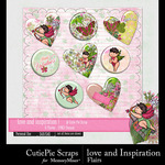 Love and Inspiration Flairs Pack-$2.99 (CutiePie Scraps)
