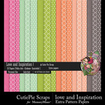 Love and Inspiration Pattern Papers-$2.99 (CutiePie Scraps)
