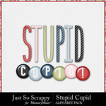 Stupid Cupid Alphabet Pack-$3.49 (Just So Scrappy)