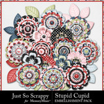 Stupid Cupid Layered Flowers Pack-$1.99 (Just So Scrappy)