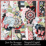 Stupid Cupid Page Borders Pack-$1.99 (Just So Scrappy)
