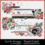 Stupid Cupid Cluster Stitches Pack-$1.99 (Just So Scrappy)