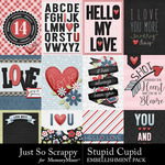 Stupid Cupid Pocket Cards Pack-$1.99 (Just So Scrappy)