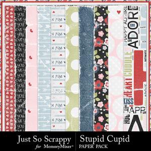 Stupid cupid worn papers medium