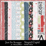 Stupid Cupid Worn Paper Pack-$1.99 (Just So Scrappy)