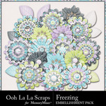 Freezing Layered Flowers Pack-$1.99 (Ooh La La Scraps)