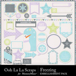 Freezing Labels and Tags Pack-$1.99 (Ooh La La Scraps)