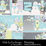 Freezing Pocket Cards Pack 2-$1.99 (Ooh La La Scraps)