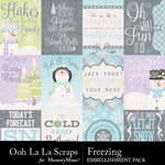 Freezing Pocket Cards Pack 1-$1.99 (Ooh La La Scraps)