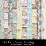 Freezing Wood Paper Pack-$1.99 (Ooh La La Scraps)