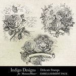 Delicate ID Stamps Pack-$2.99 (Indigo Designs)