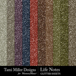 Life notes glitter sheets small