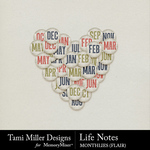 Life Notes Monthlies Pack-$2.99 (Tami Miller)