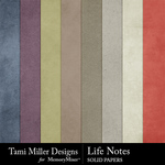 Life notes solid papers small
