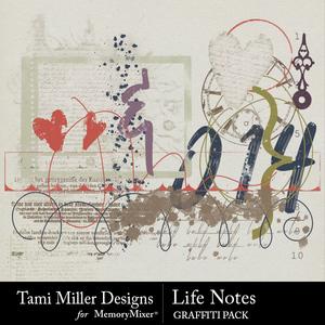 Life notes graffiti medium
