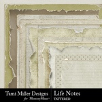 Life Notes Tattered Papers and Edges-$3.99 (Tami Miller)