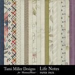 Life notes papers small