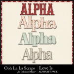 Love Is OLL Alphabet Pack-$3.49 (Ooh La La Scraps)